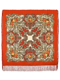 Платок Павловопосадский с рисунком Сон бабочки