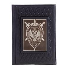 Черная кожаная обложка для паспорта «ФСБ»