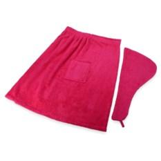 Розовый женский набор для сауны