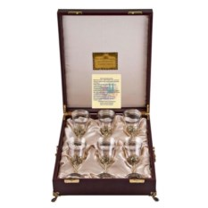 Набор из 6-ти бокалов для вина в футляре Богемия