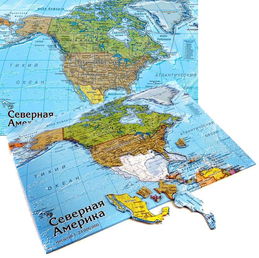 Картографический пазл «Северная Америка»