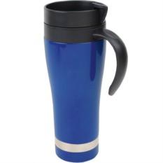 Кружка с термоизоляцией синяя, на 420 мл
