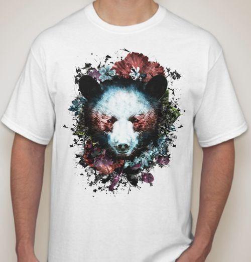 Футболка Медведь в цветах