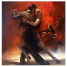 Картина-раскраска по номерам на холсте Танец страсти