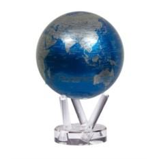 Сини глобус-мобиле с политической картой мира