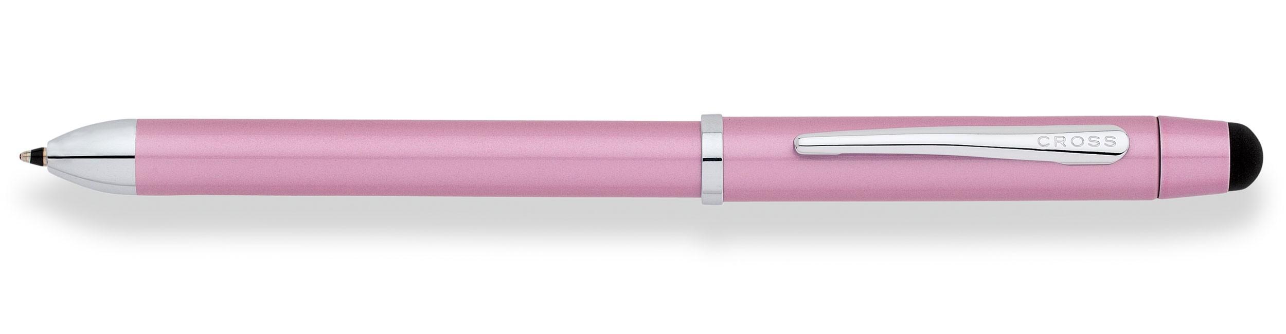 Розовая шариковая ручка двухцветная и механический карандаш