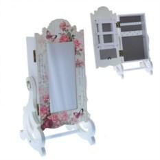 Настольный комод для украшений с зеркалом