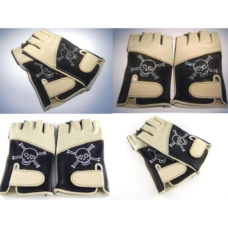 Водительские перчатки со стразами  Swarovski