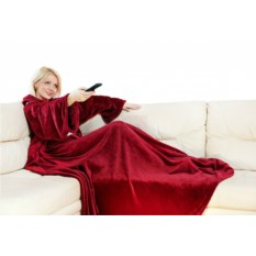 Плед с рукавами Sleepy Original бордового цвета