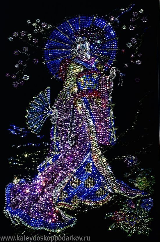 Картина с кристаллами Swarovski Гейша