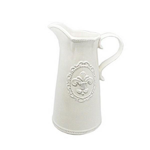 Белый керамический кувшин Вензель