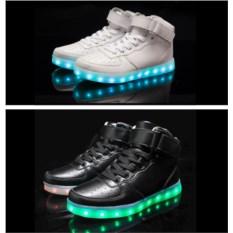 Светящиеся LED кроссовки с высоким подъемом