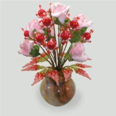 Цветы из коралла Красный цвет