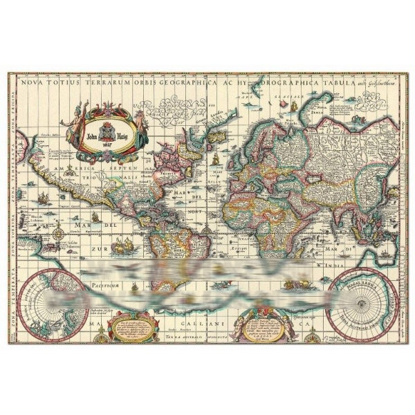 Пазл «Древняя карта мира»