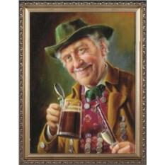 Оригинальный портрет любителю пива