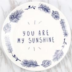 Оригинальная тарелка You are my sunshine
