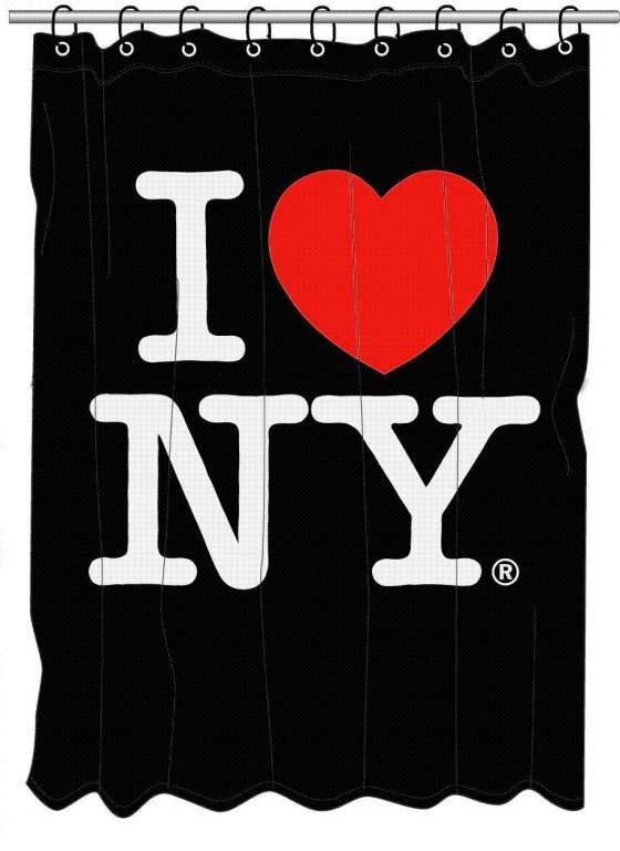 Штора в ванную I love New York