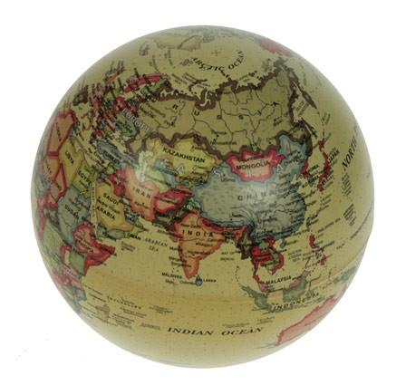 Настольный сувенир Глобус (желтый), диаметр 14см