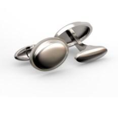 Серебряные запонки Овальные
