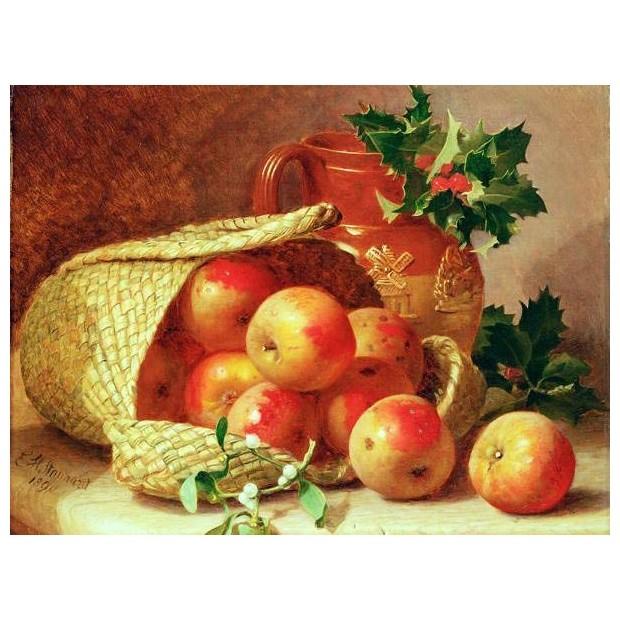 Картина-раскраска по номерам на холсте Яблоки