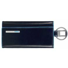 Темно-синий футляр для ключей Piquadro Blue Square