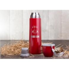 Термос Горячая чашка (цвет — красный)