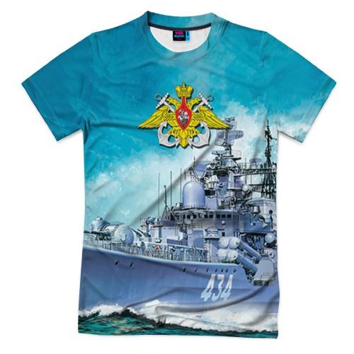 Мужская футболка 3D с полной запечаткой ВМФ