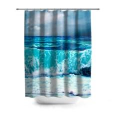 3D-штора для ванной Волны