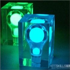 Голубая фосфорная лампа Glow Brick