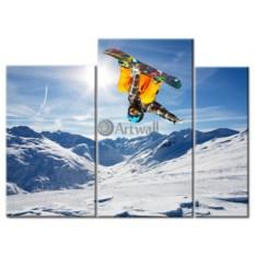 Модульная картина «Сноуборд» 50×37 см