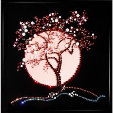 Картина с кристаллами Swarovski Японская сакура