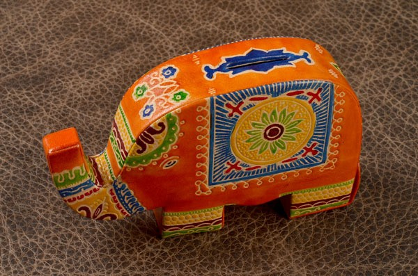 Копилка Оранжевый слон