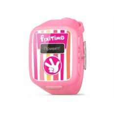 Розовые детские часы-телефон с трекером GPS Fixitime