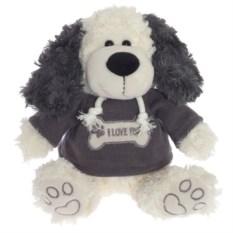 Серо-белая мягкая игрушка Собака (22 см)