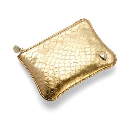 Косметичка Snakeskin цвета золота