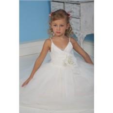 Белое праздничное платье для девочки Ангел