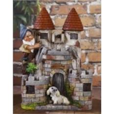 Декоративный фонтан Лесной замок гнома и его собака
