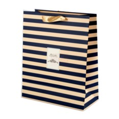 Подарочный пакет Синие полосы
