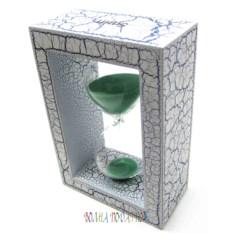Песочные часы на 5 минут с зеленым песком