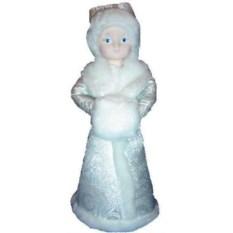 Новогодний сувенир Снегурочка, высота 37 см