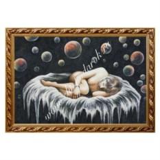 Картина из каменной крошки Спящая девушка (40х60 см)