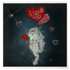 Картина с кристаллами Swarovski «Любовь окрыляет»