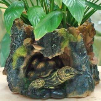 Кашпо «Пень с черепахой»