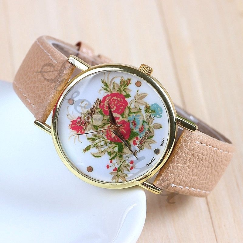 Часы Geneva Scarlet Rose Bunch – Beige