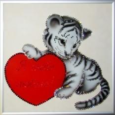 Картина с кристаллами Swarovski Я твой тигра