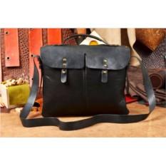 Дизайнерский кожаный портфель ручной работы