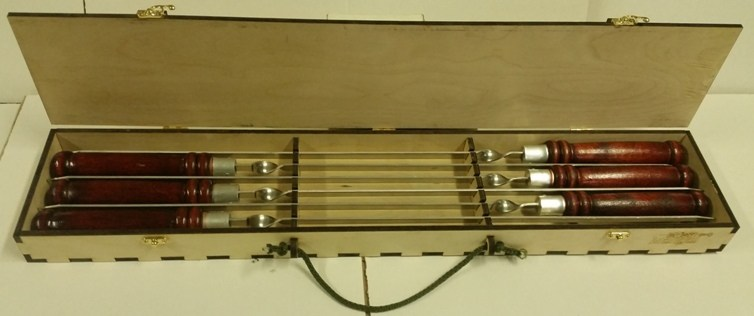 Набор профессиональных шампуров 470х10х2,5 мм 6 шт.