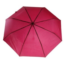 Складной механический зонт (цвет: красный)