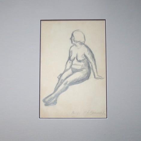 Двойной рисунок Н.Крымова Натурщица