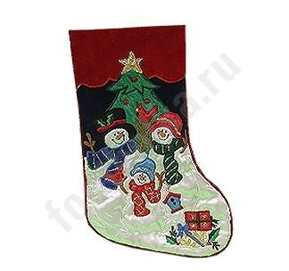 Новогодний носок Снеговики